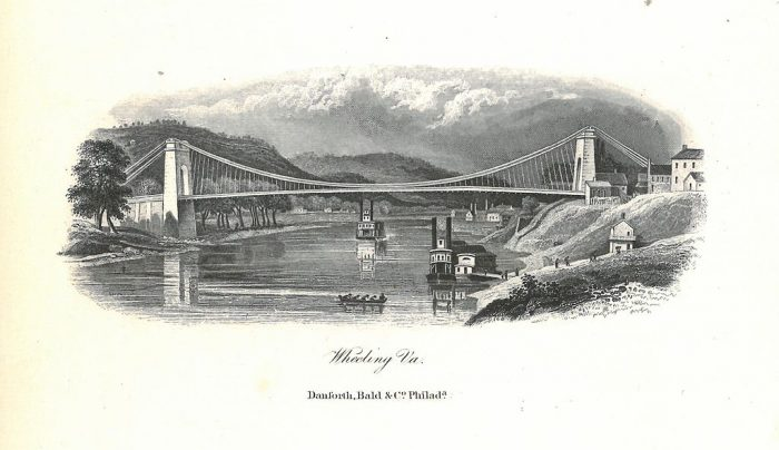 7. The Wheeling Bridge was the longest bridge in the world from 1849 to 1851.