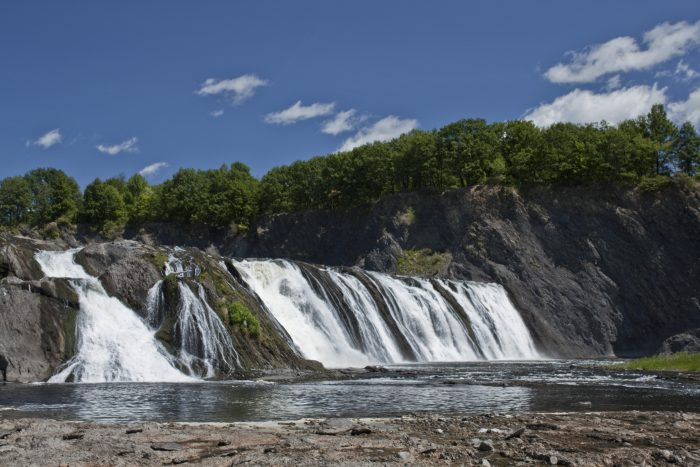 5. Check out New York's second largest waterfall at the easily accessible Cohoes Falls Overlook Park.