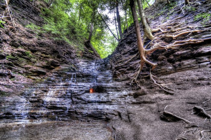 3. Eternal Flame Falls, Orchard Park