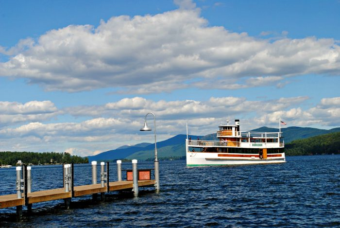 8. Relax on the water while taking a trip on one of the Lake George Steamboat Cruises!