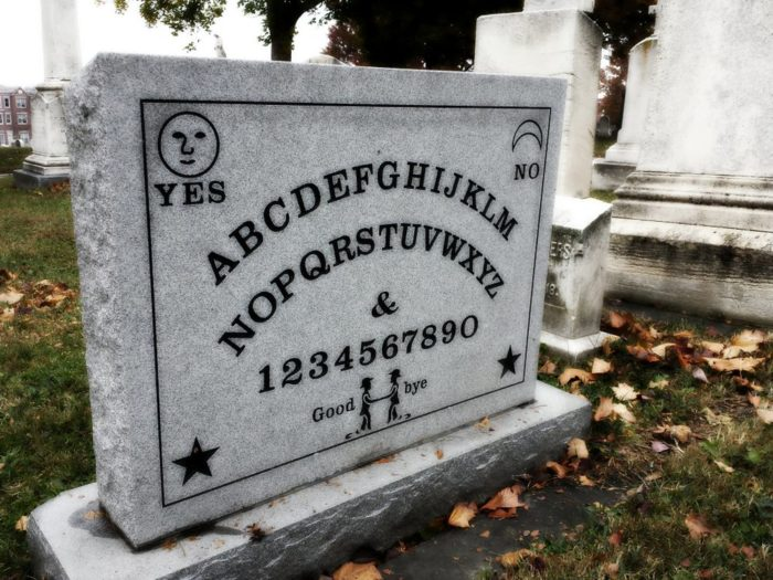 16. The inventor of the Ouija Board lies in Baltimore's Green Mount Cemetery. Do you find his tombstone fun, or a tad unnerving?