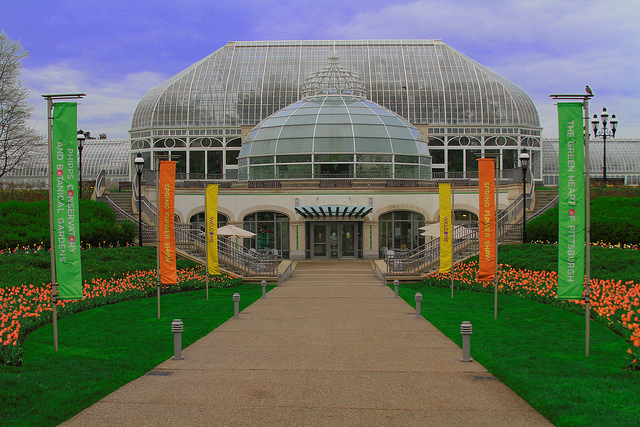 The conservatory opens at 9:30 a.m.  and closes at 5 p.m. every day except Friday when the doors shut at 10 p.m.