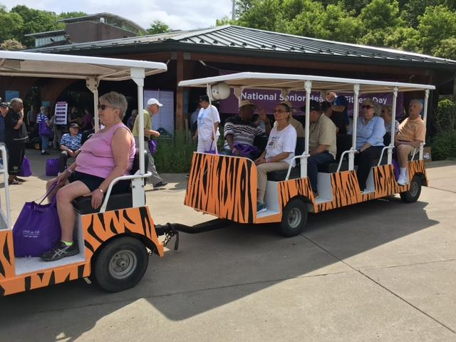 Too hot? Not in the mood to walk? Explore the zoo aboard a tram where...