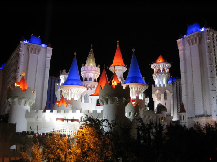 1.	1990: The Excalibur Hotel & Casino opens on the Las Vegas Strip signaling the start of Sin City's family-friendly era
