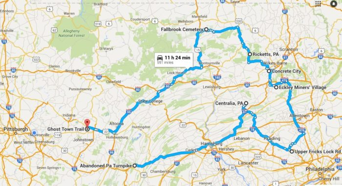 Road Trip Through Pennsylanias Ghost Towns - Map of pa towns