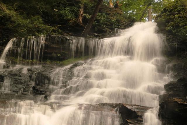 10.  Ganoga Falls, Fairmount Township