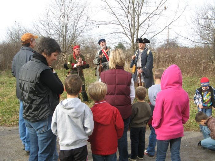 Moraine State Park hosts a variety of events throughout the year, including educational workshops, day camps, and volunteer days.  (Notice George Washington in the photo below.)
