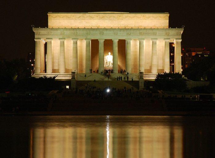 12. Visit the Lincoln Memorial at night.