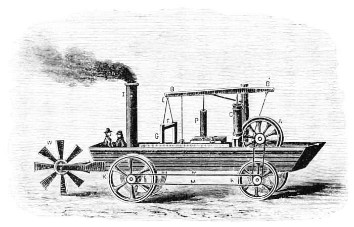 5. Oliver Evans created the first American automobile in 1805.