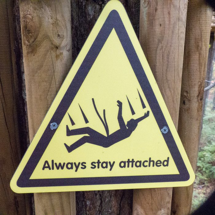 but don't worry, there are helpful signs along the way like this one.