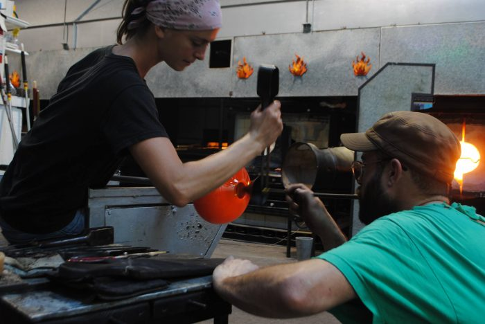 7) Check out glass blowing at the New Orleans Glassworks and Printmaking Studio.