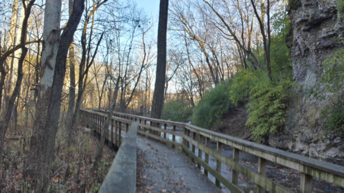 The gorge includes a boardwalk and overlook area, making the waterfall easily accessible to visitors.