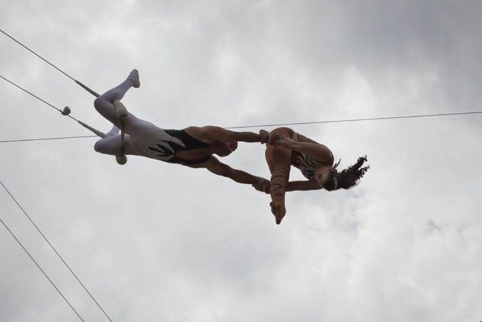 4. Swing from a flying trapeze.