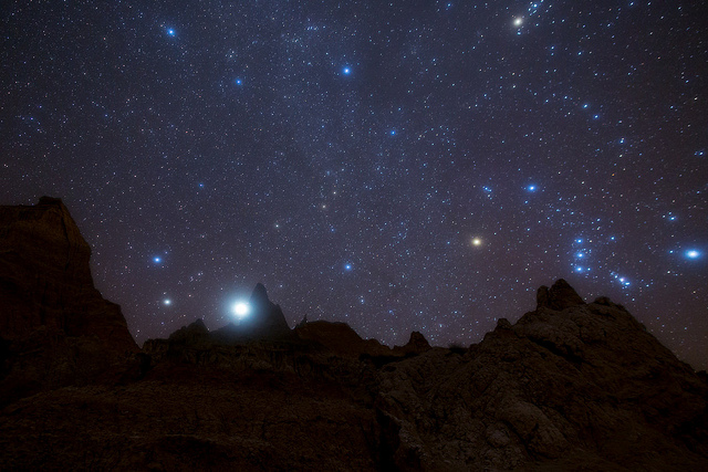 5. The glowing stars give off an etherial sense of being surrounded by other life forms.