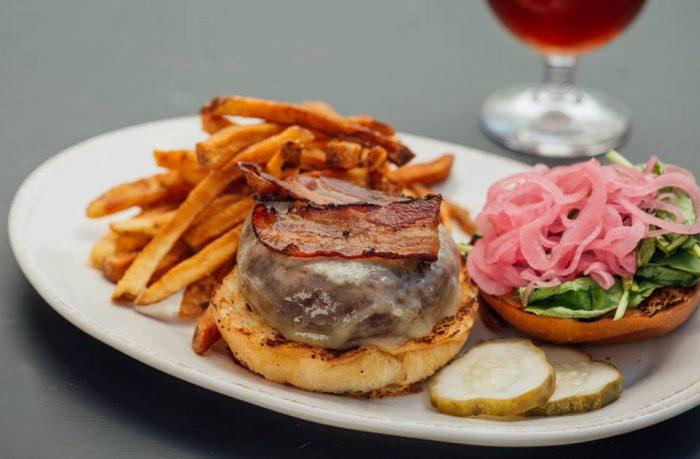 12.  Fresh and local burger