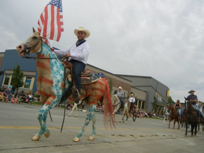 6. People even paint their horses for the parade!