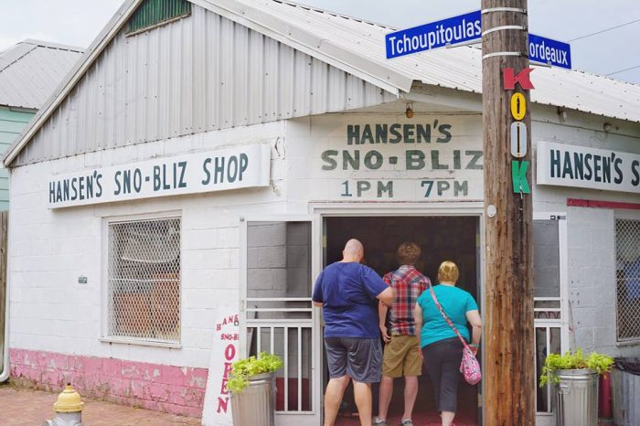 5) Get a Snoball at Hansen's, 4801 Tchoupitoulas St.