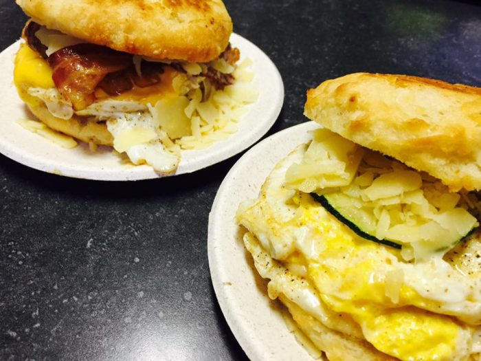 1. Start off with a tasty breakfast sandwich and sweet matcha frappe from Union Station Coffee & Roasterie.
