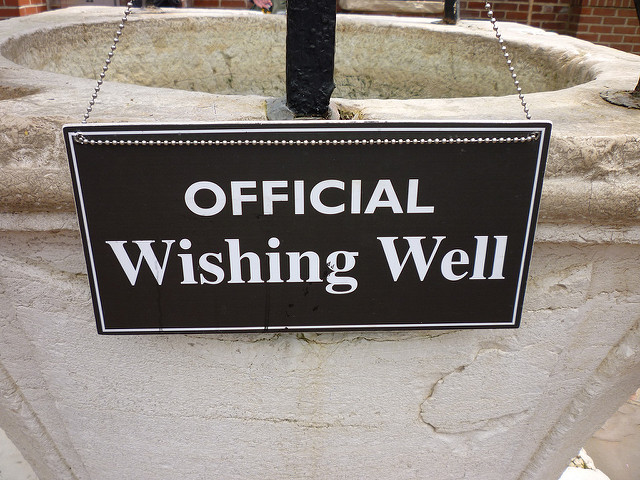 Make a wish in the wishing well...
