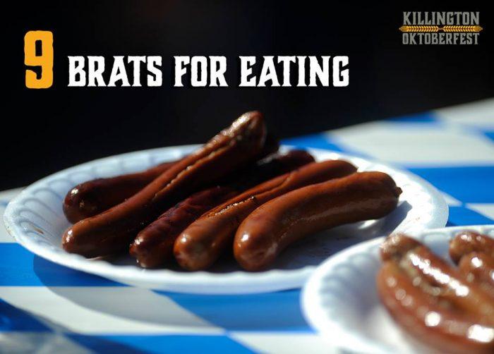 4.  Bratwurst Eating Contest, Killington Oktoberfest