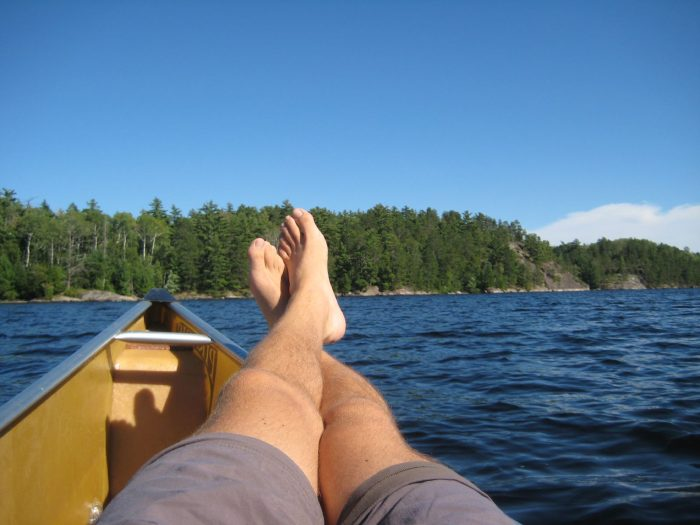 6. Plus, relaxing in a canoe is awesome. There's plenty of room to stretch your legs when you need a break.