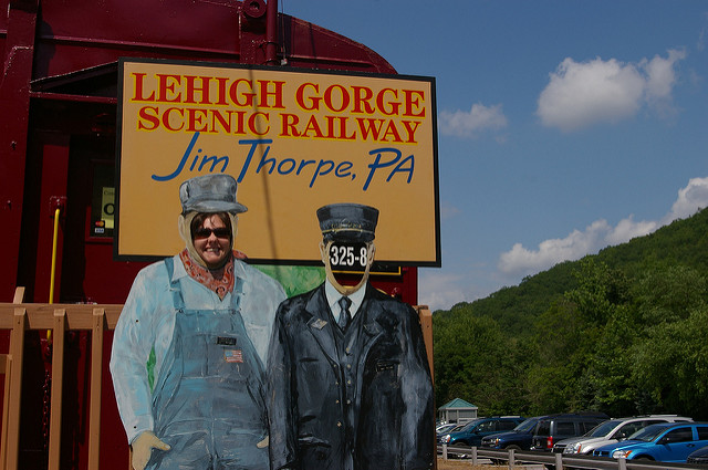 Become the conductor of the Lehigh Gorge Scenic Railway - at least for a few pictures.