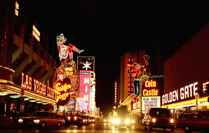 13.	1994: A portion of Fremont Street is permanently closed to traffic, making way for the pedestrian-friendly Fremont Street Experience