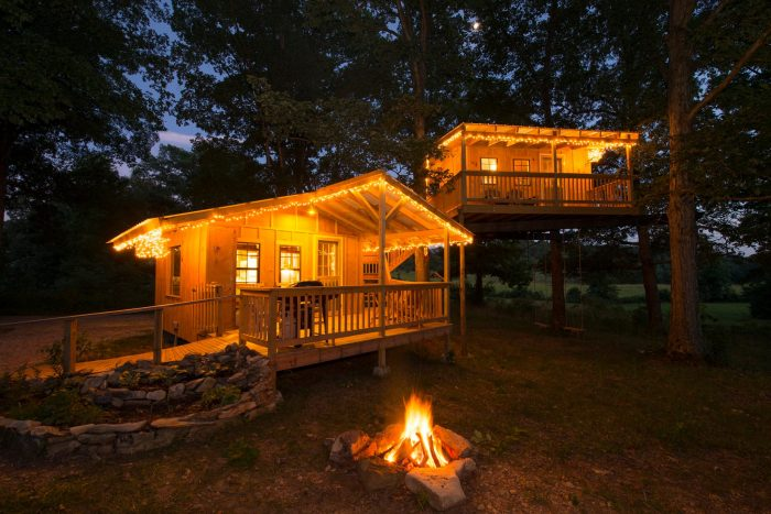 At Shady River Getaways, you'll find beautiful cabins where you can spend your downtime.