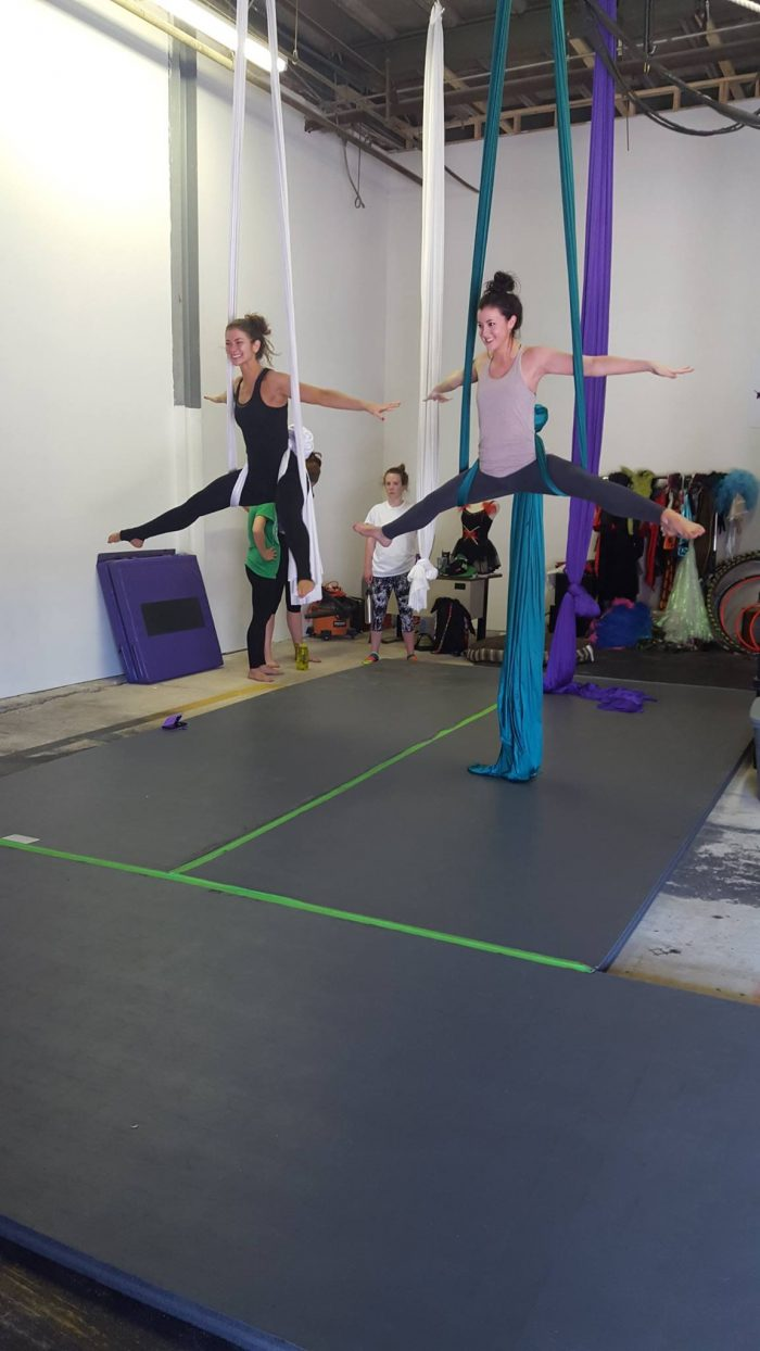 4) Take a an aerial arts class at Crescent City Aerial Arts.