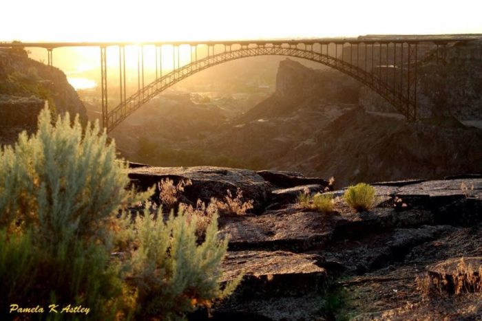 5. Enjoy the exhilarating canyon view from the Perrine Bridge in Twin Falls.