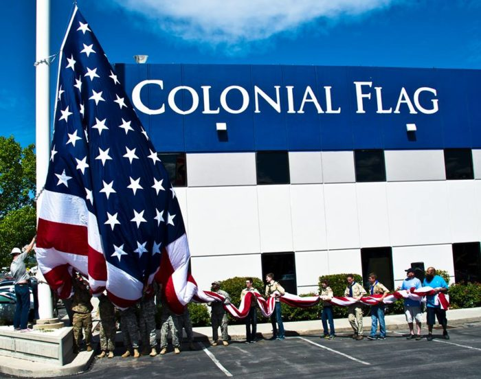 9. We have this gigantic flag...