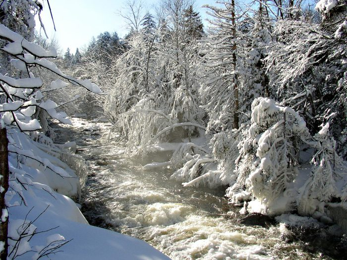 16.  Snow, ice and rushing rivers make the perfect array of winter whites.