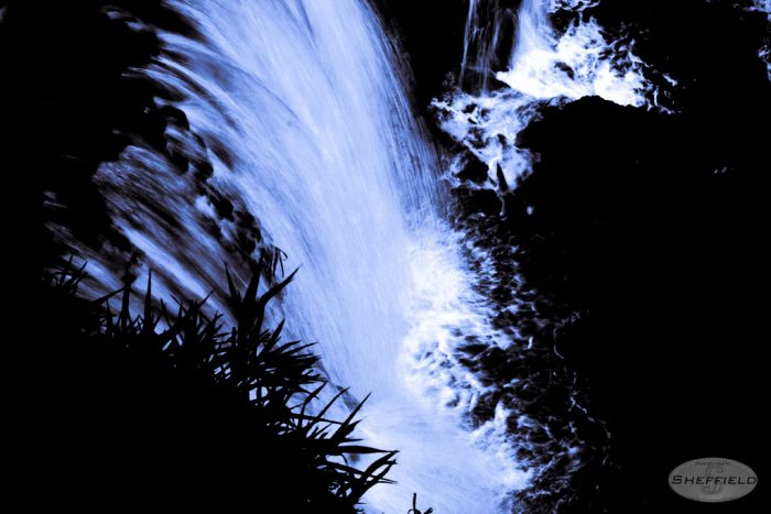 4. Fall Creek Falls gets an eerie and disorienting glow when photographed at night.