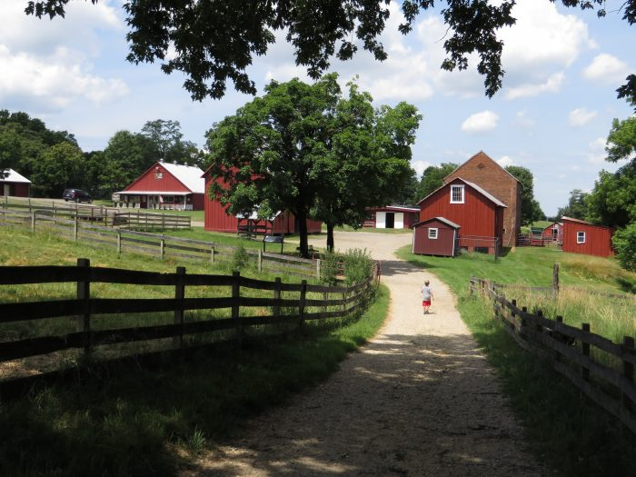 4. These classic red barns were spotted in Oxon Hill.