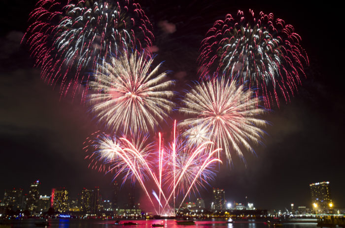 2. The fireworks display in San Diego as viewed from Coronado is out of this world! The fireworks in San Diego start at 9pm, so get there early to snag a good seat. Fireworks can be viewed in Coronado or you can set up camp along the bay in San Diego.