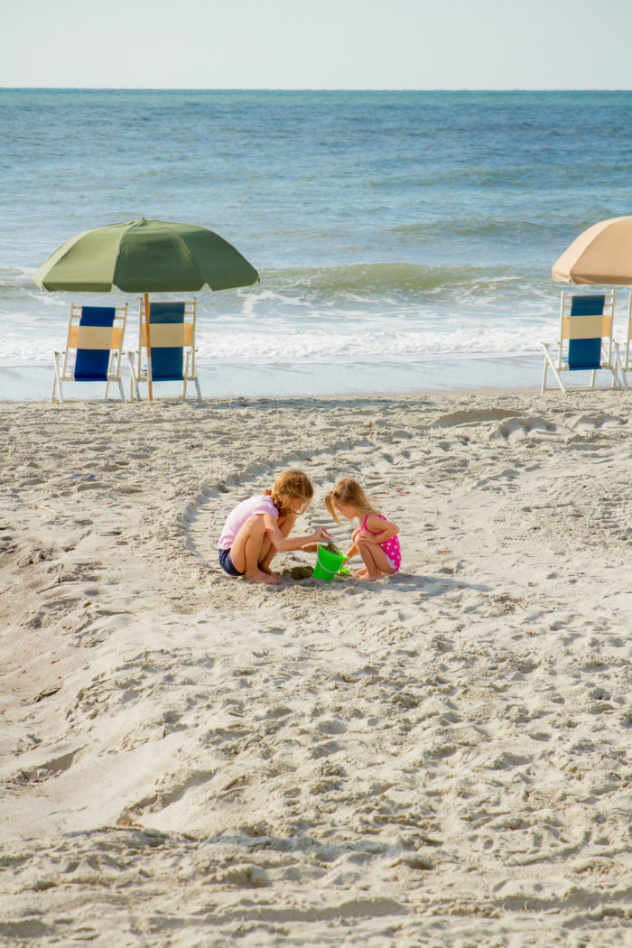 17. Working together to build more than just a sandcastle at Hurl Rock Park in Myrtle Beach. So cute!