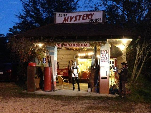 Check out the Abita Mystery House.