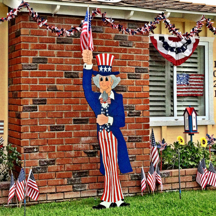 10. We leave our patriotic decorations up all month...