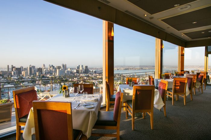 2. This view at Mister A's Restaurant in San Diego is always a safe bet for a romantic moment.