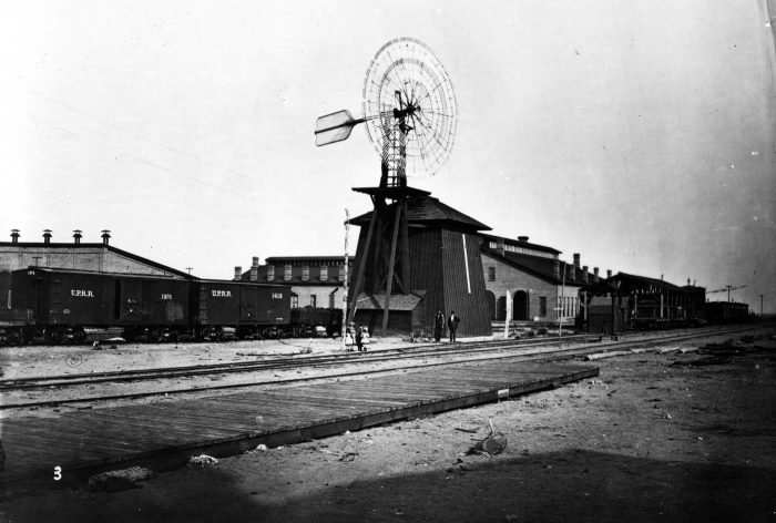 23. This incredible photo taken in 1869 shows a windmill at the North Platte Station.