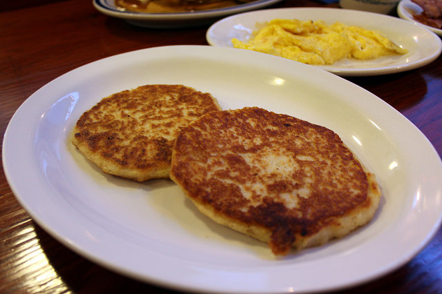 1. Start your day off with johnny cakes. These delicious corn meal pancakes are out of this world.