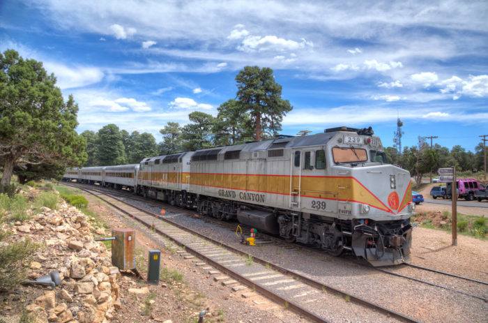 3. Catch a ride on the Grand Canyon Railway.