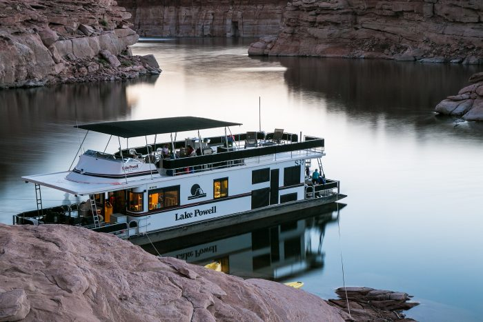 1. Rent a houseboat. You'll find one that's the right size for your group and your budget.