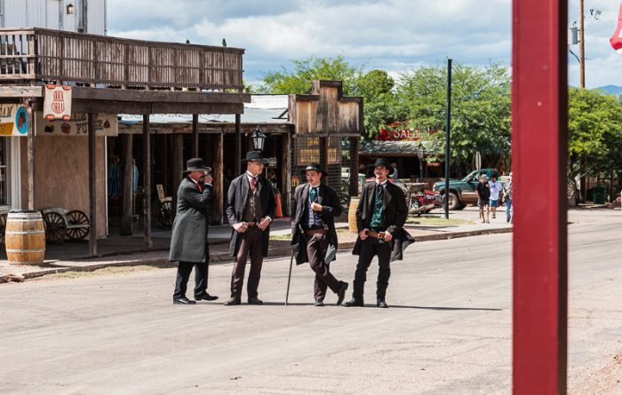 2. A re-enactment of the shootout at the O.K. Corral.