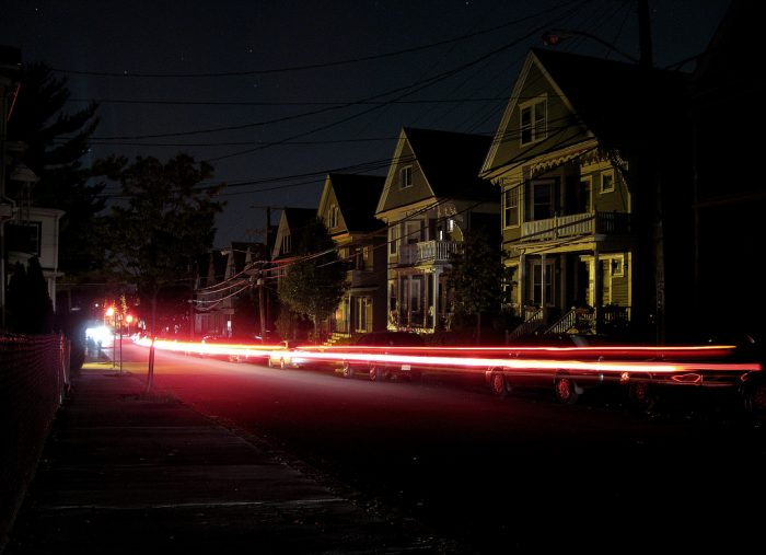4. This long exposure shot was taken in Somerville during a blackout.
