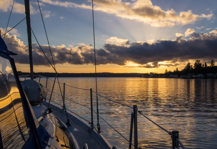 8. Washington is truly a boater's paradise. Here's a relaxing view on the water near Bremerton at sunset.