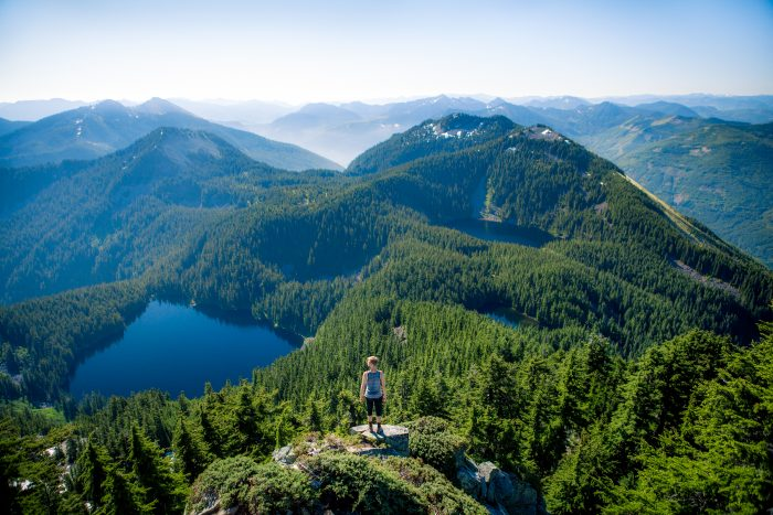 1. Hiking Mount Defiance in the Mount Baker Snoqualmie National Forest.