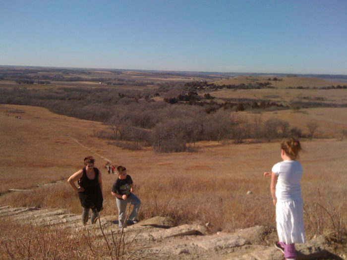 11. Since schools typically require some sort of P.E., it's time to get out and hike the Konza Prairie!