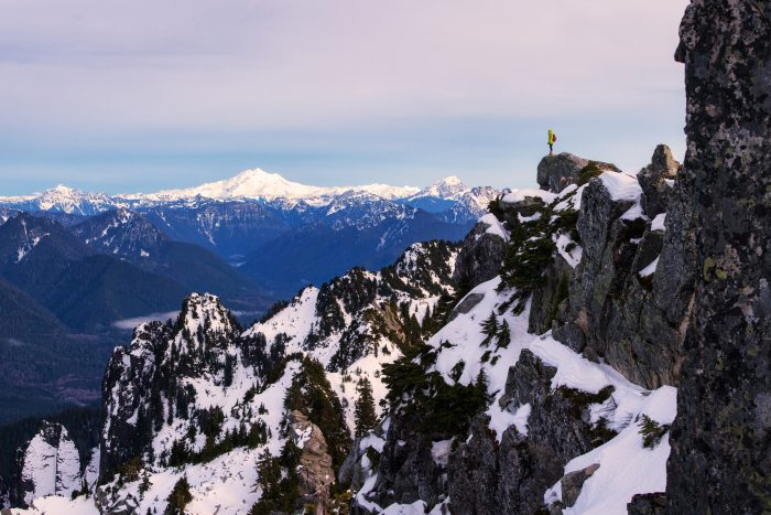 14. Taking in the views on top of Mount Pilchuck.