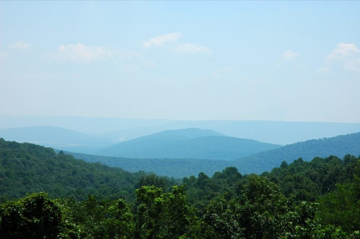 9. Here's a wonderful view of the mountains from Monte Sano State Park Overlook.